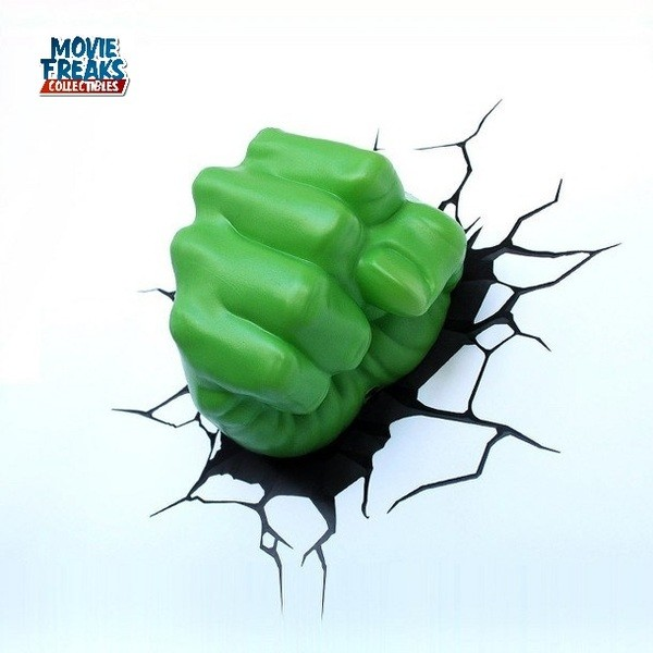 Hulk Mão Luminária LED - 3D Deco Light  - Movie Freaks Collectibles