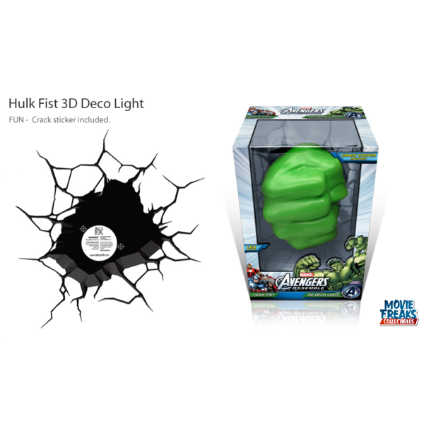 Hulk Mão Luminária LED - 3D Deco Light  - Movie Freaks Collectibles