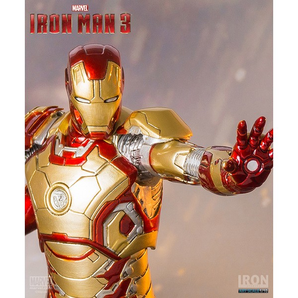 Iron Studios Homem de Ferro Mark XLII 1/10 - Iron Man 3  - Movie Freaks Collectibles