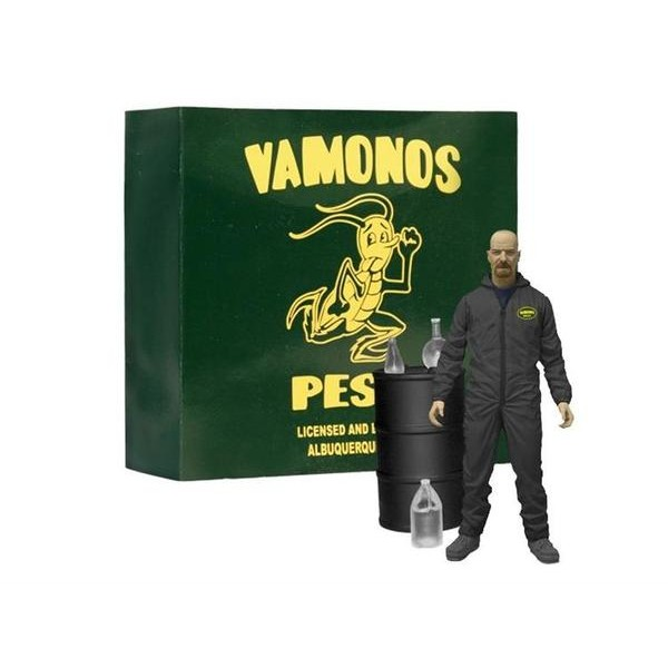 Mezco Breaking Bad Walter White in Black Hazmat Suit Exclusive  - Movie Freaks Collectibles