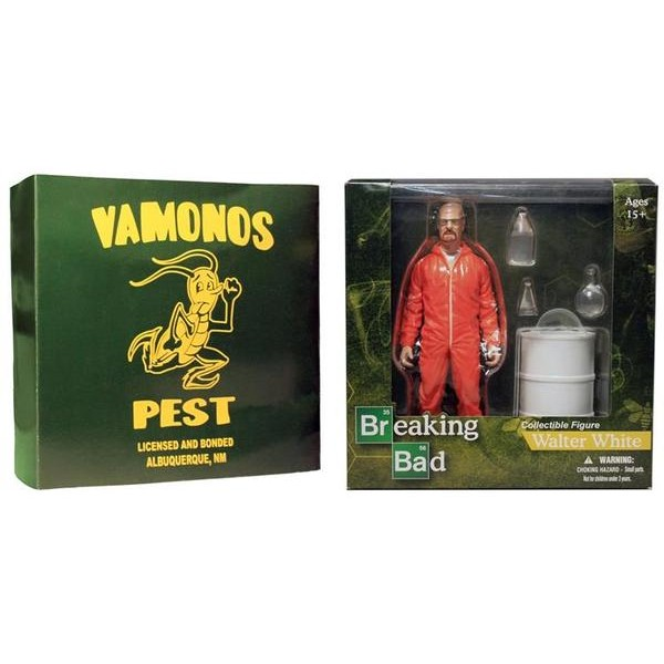 Mezco Breaking Bad Walter White in Orange Hazmat Suit Exclusive  - Movie Freaks Collectibles