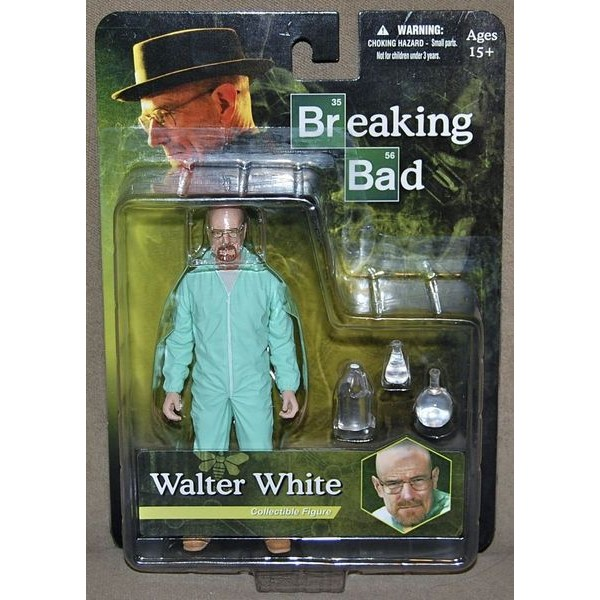 Mezco Breaking Bad Walter White in Green Hazmat Suit EXCLUSIVO  - Movie Freaks Collectibles