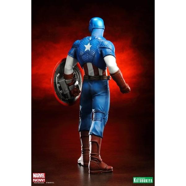Kotobukiya Marvel Avengers Now Capitão America ARTFX+ PVC Statue 1/10  - Movie Freaks Collectibles