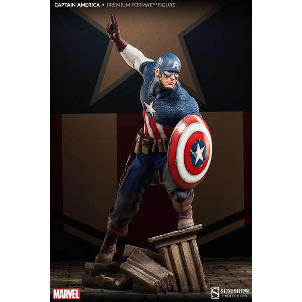 Sideshow Capitão América Allied Charge Premium Format  - Movie Freaks Collectibles