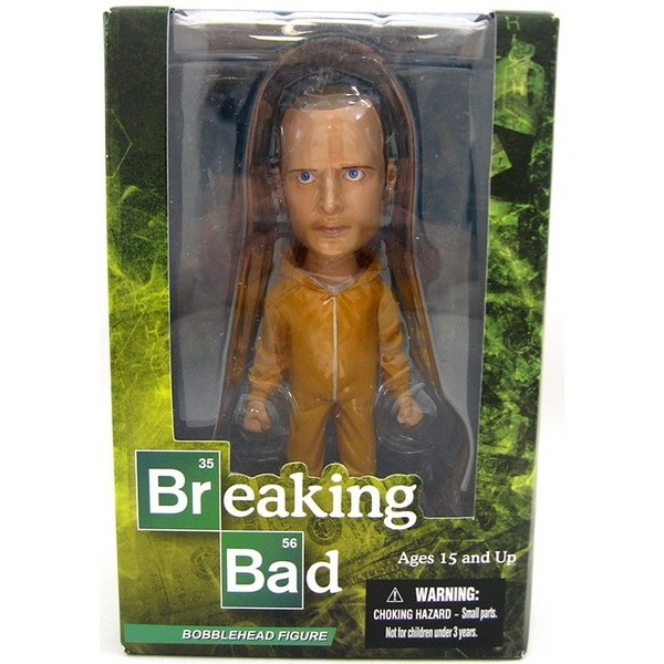 Mezco Breaking Jesse Pinkman in Yellow Hazmat Suit BobbleHead  - Movie Freaks Collectibles