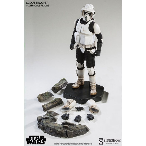 Sideshow Scout Trooper With Speeder Bike 1/6 Set  - Movie Freaks Collectibles