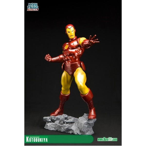 Kotobukiya Homem De Ferro Classic Avengers Fine Art Statue  - Movie Freaks Collectibles