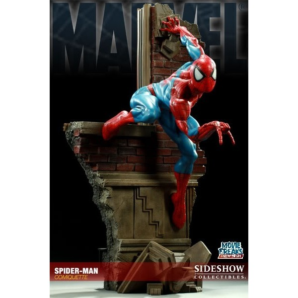 Sideshow Homem Aranha Spider-Man Comiquette  - Movie Freaks Collectibles