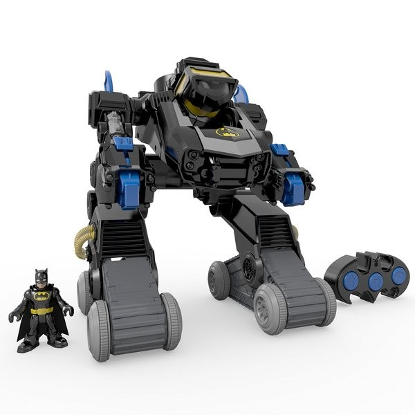 Fisher-Price Imaginext DC Super Friends RC Transforming Bat Bot c/ controle remoto  - Movie Freaks Collectibles