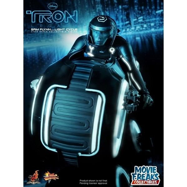 Hot Toys Tron Legacy Sam Flynn Figure + Light Cycle  - Movie Freaks Collectibles