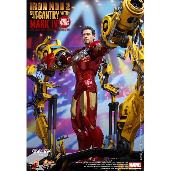 Hot Toys Homem De Ferro Suit Up Gantry C/ Iron Man Mark 4  - Movie Freaks Collectibles