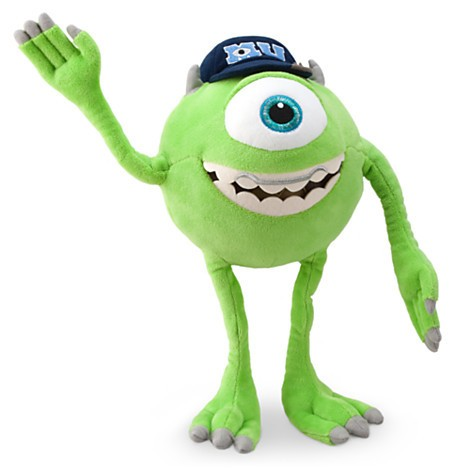 Disney Store Mike Wazowski de Pelúcia - Monsters University - Monstros - 30cm  - Movie Freaks Collectibles