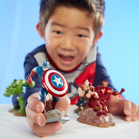 Disney Store Vingadores Play Set Avengers Assemble Figure Play Set  - Movie Freaks Collectibles