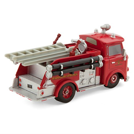 Disney Store Red Die Cast Fire Engine - Cars 2 - Escala 1:43  - Movie Freaks Collectibles