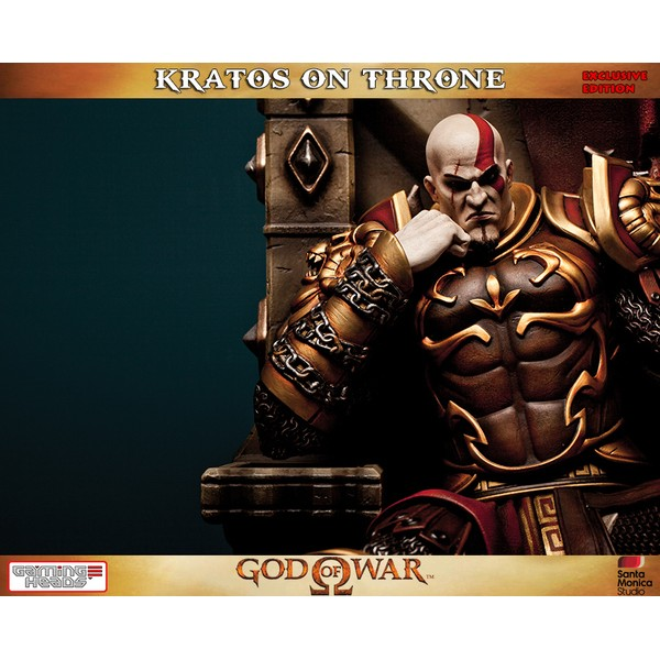 Gaming Heads Kratos on Throne Exclusive - Movie Freaks Collectibles