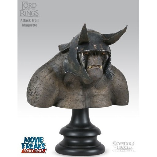 Sideshow Weta Attack Troll Busto Senhor dos Anéis  - Movie Freaks Collectibles