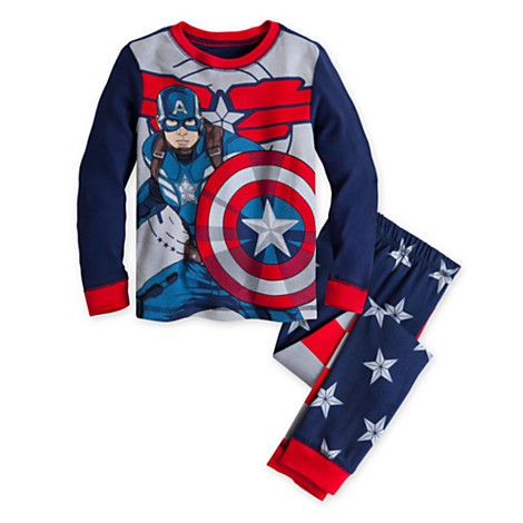 Disney Store Pijama Capitão América - Produto original e licenciado  - Movie Freaks Collectibles