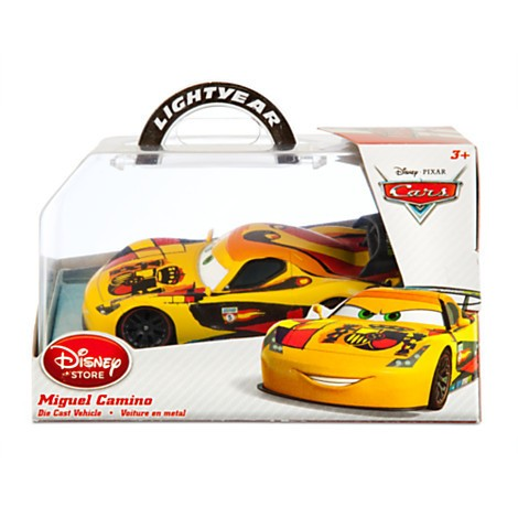 Disney Store Miguel Camino Die Cast Car - Carros 2 - Escala 1:43  - Movie Freaks Collectibles