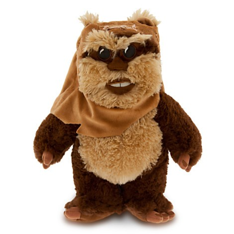 Disney Store Wicket Ewok de Pelúcia  - 33cm - Produto oficial e licenciado Disney/Star Wars  - Movie Freaks Collectibles