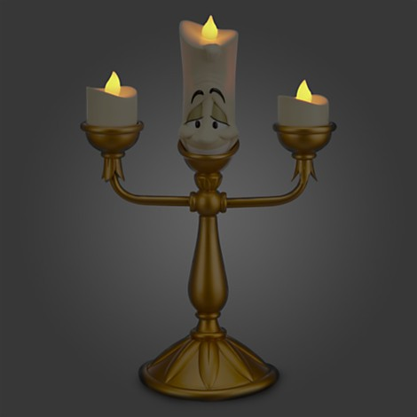 Disney Store Lumiere Light-up Figure Luminária / Abajur - Movie Freaks Collectibles