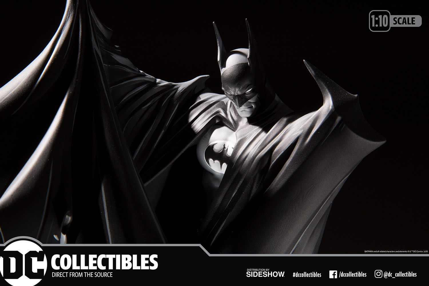DC Direct Batman Black and White Limited Edition Statue Todd McFarlane  - Movie Freaks Collectibles