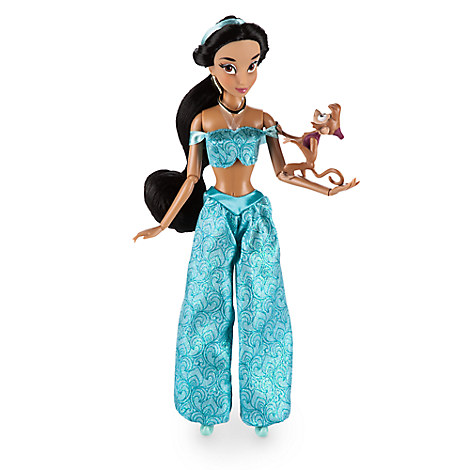 Disney Store Boneca Jasmine com Abu - Modelo 2017 - ORIGINAL  - Movie Freaks Collectibles