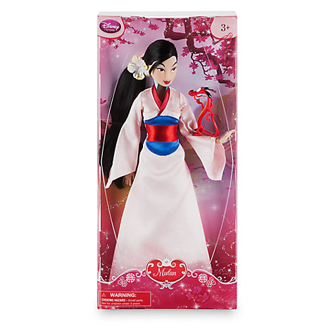 Disney Store Boneca Mulan c/Mushu 30cm Modelo 2017 Original - Movie Freaks Collectibles