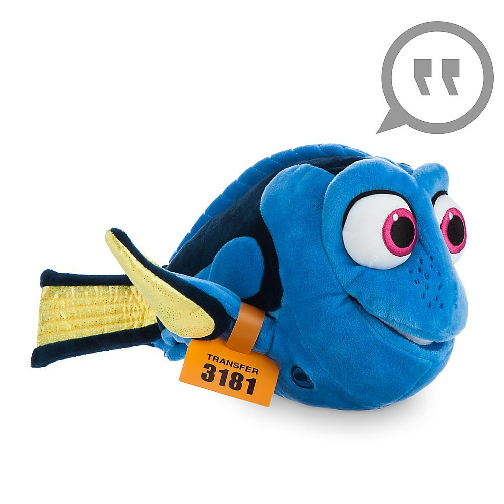 Disney Store  Pixar Exclusive Dory 35cm Pelucia que fala - Procurando Dory  - Movie Freaks Collectibles