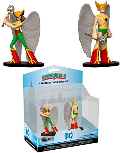 Funko Heroworld: Justice League Hawkman & Hawkgirl 2pk - Liga da Justiça   - Movie Freaks Collectibles