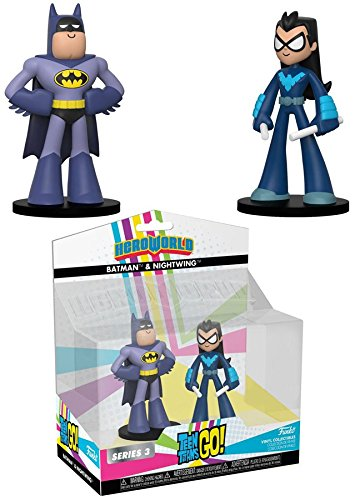 Funko Heroworld: Teen Titans Nightwing and Batman 2pk - Novos Titãs   - Movie Freaks Collectibles