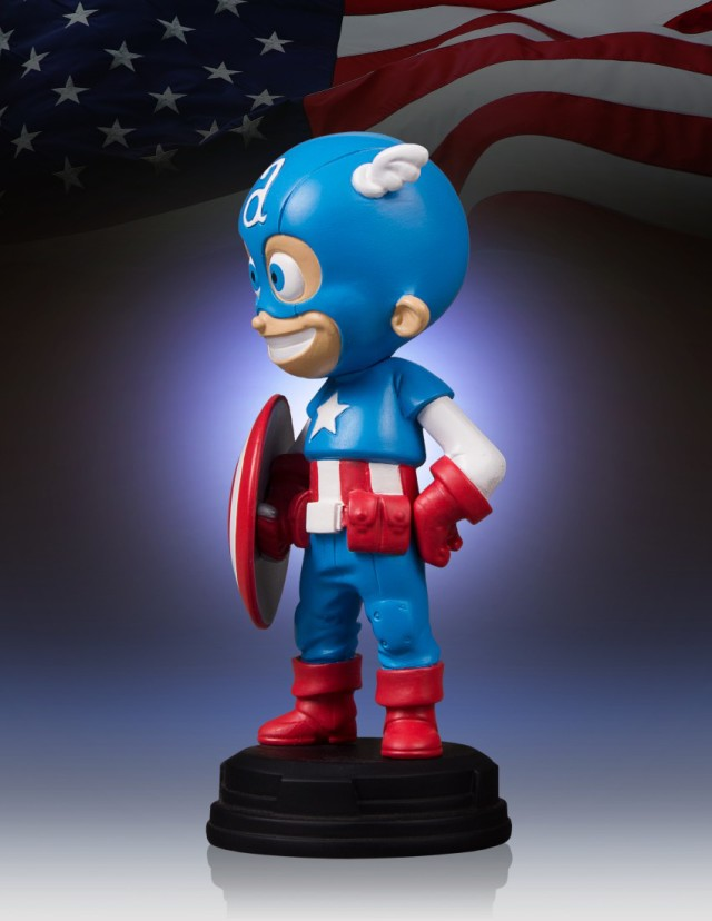 Gentle Giant Capitão America Skottie Young Animated Statue  - Movie Freaks Collectibles