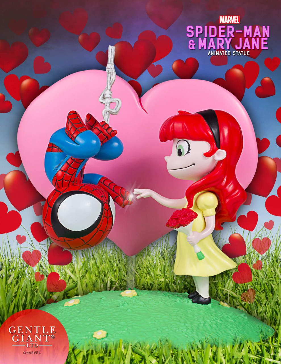 Gentle Giant Homem Aranha & Mary Jane Skottie Young Animated Statue  - Movie Freaks Collectibles