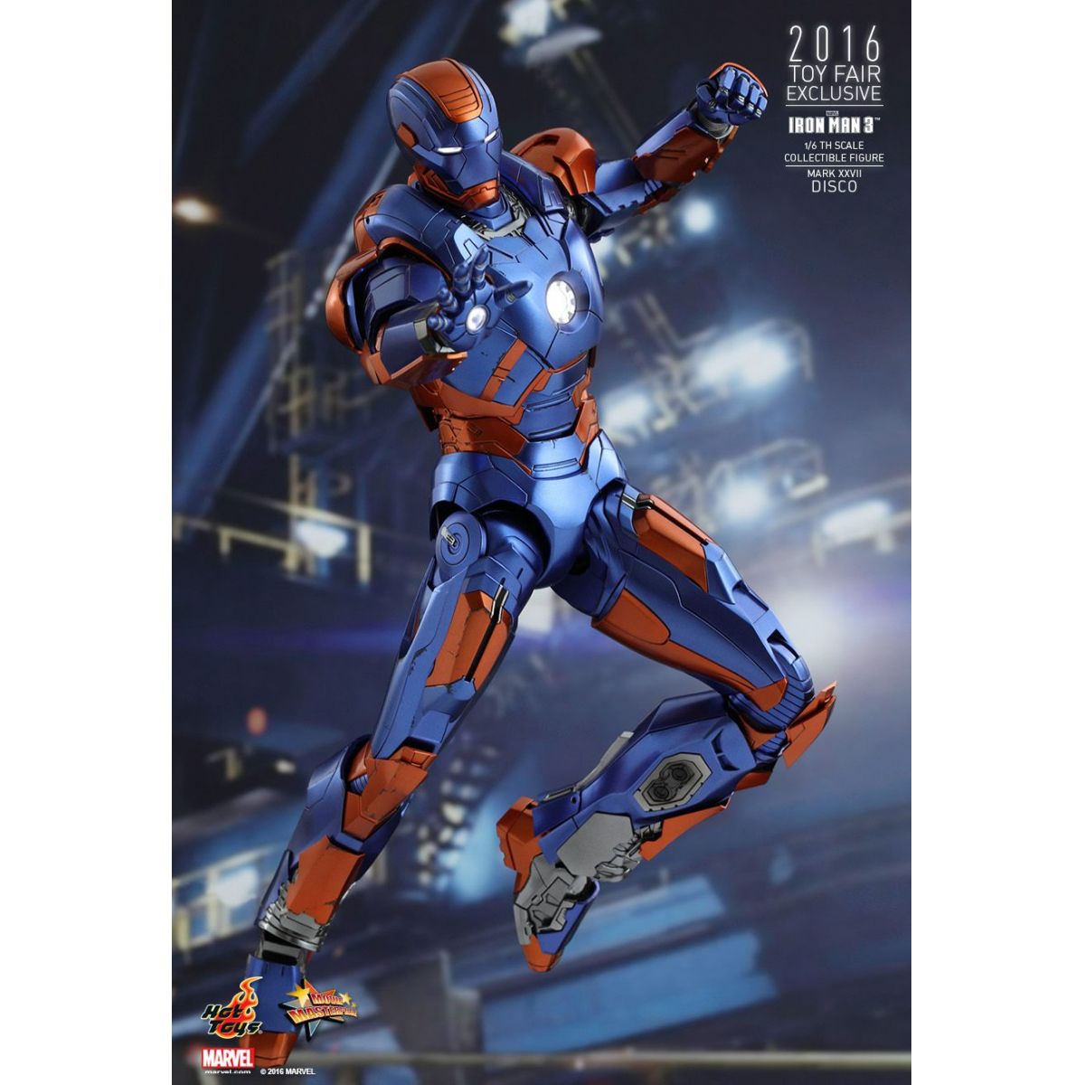 Hot Toys Homem de Ferro DIsco Mark XXVII Exclusivo Comic Con XP 2016 Iron Man 3  - Movie Freaks Collectibles