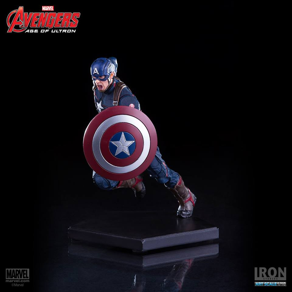 Iron Studios Capitão América Art Scale 1/10 Age of Ultron  - Movie Freaks Collectibles