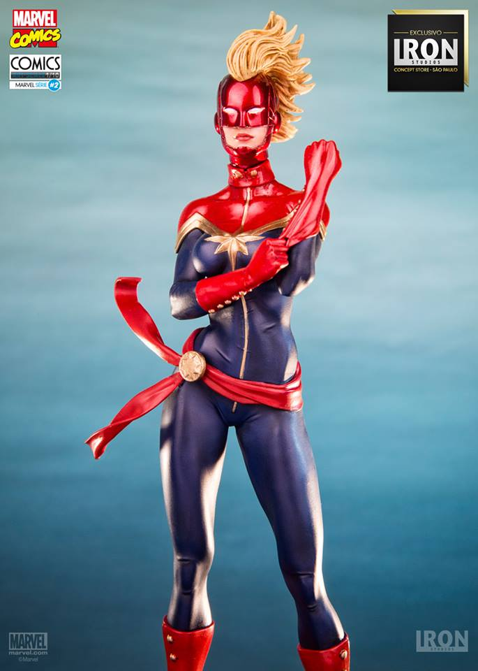 Iron Studios Captain Marvel Exclusive 1/10 Art Scale - Movie Freaks Collectibles