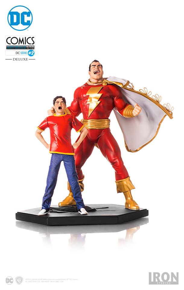 Iron Studios Shazam 1/10 Art Scale EXclusive with Extra head  - Movie Freaks Collectibles