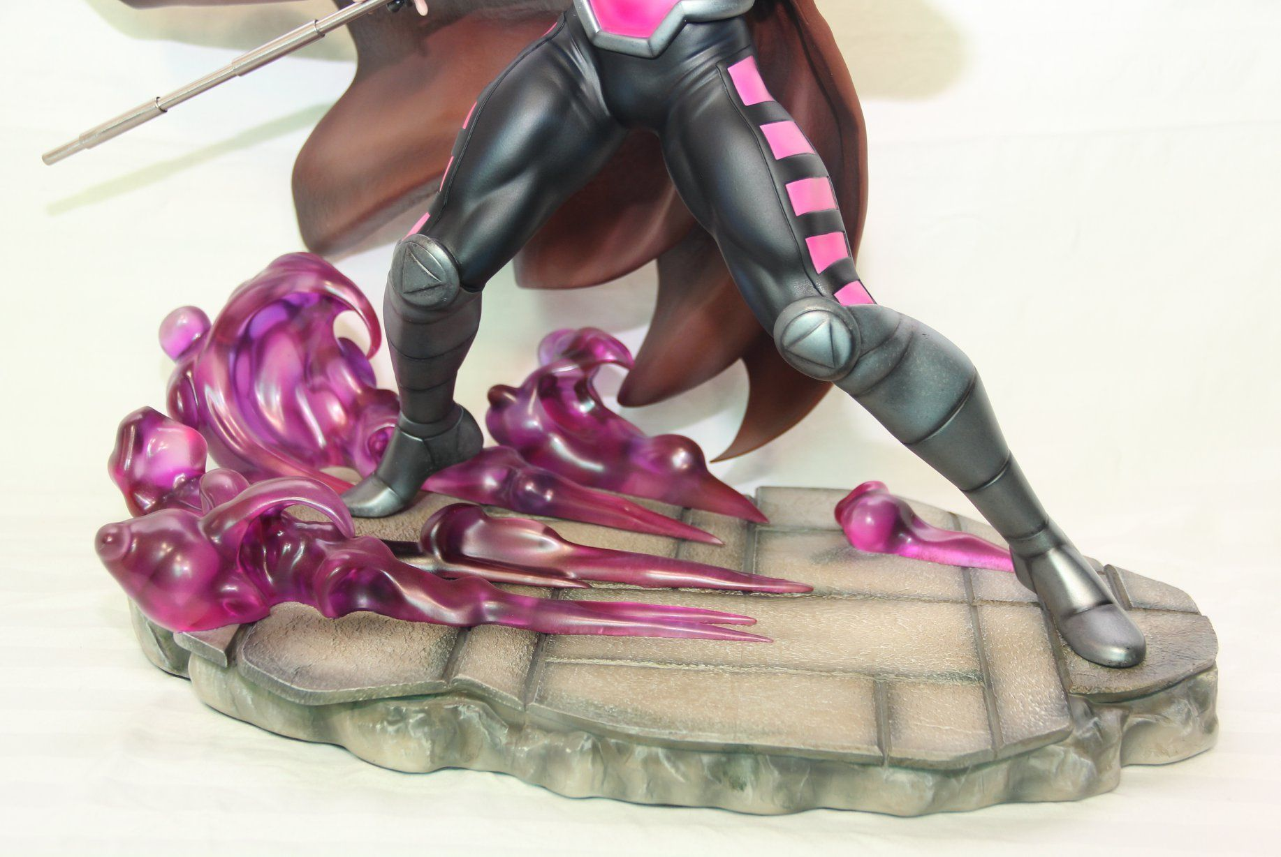 Marvel Vs Capcom Gambit Statue 1/4 Scale Custom Statue- X-men - Translucent base  - Movie Freaks Collectibles