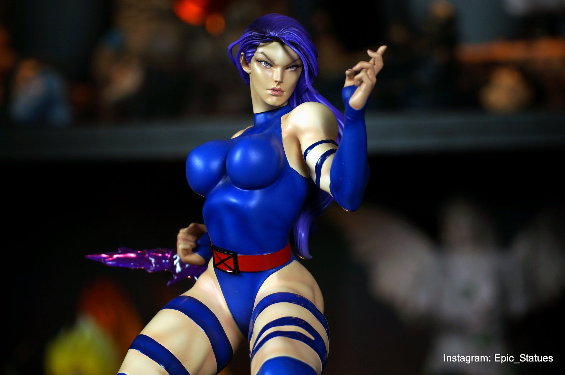 Marvel Vs Capcom Psylocke 1/4 scale Custom statue - Movie Freaks Collectibles