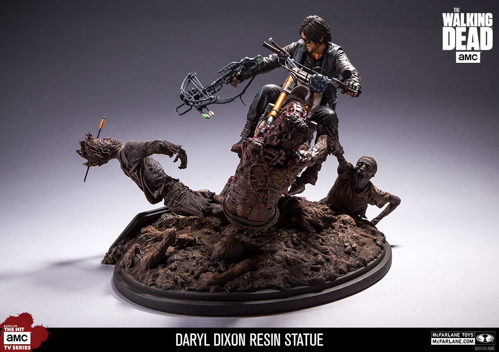 McFarlane Daryl Dixon resin statue  - Movie Freaks Collectibles