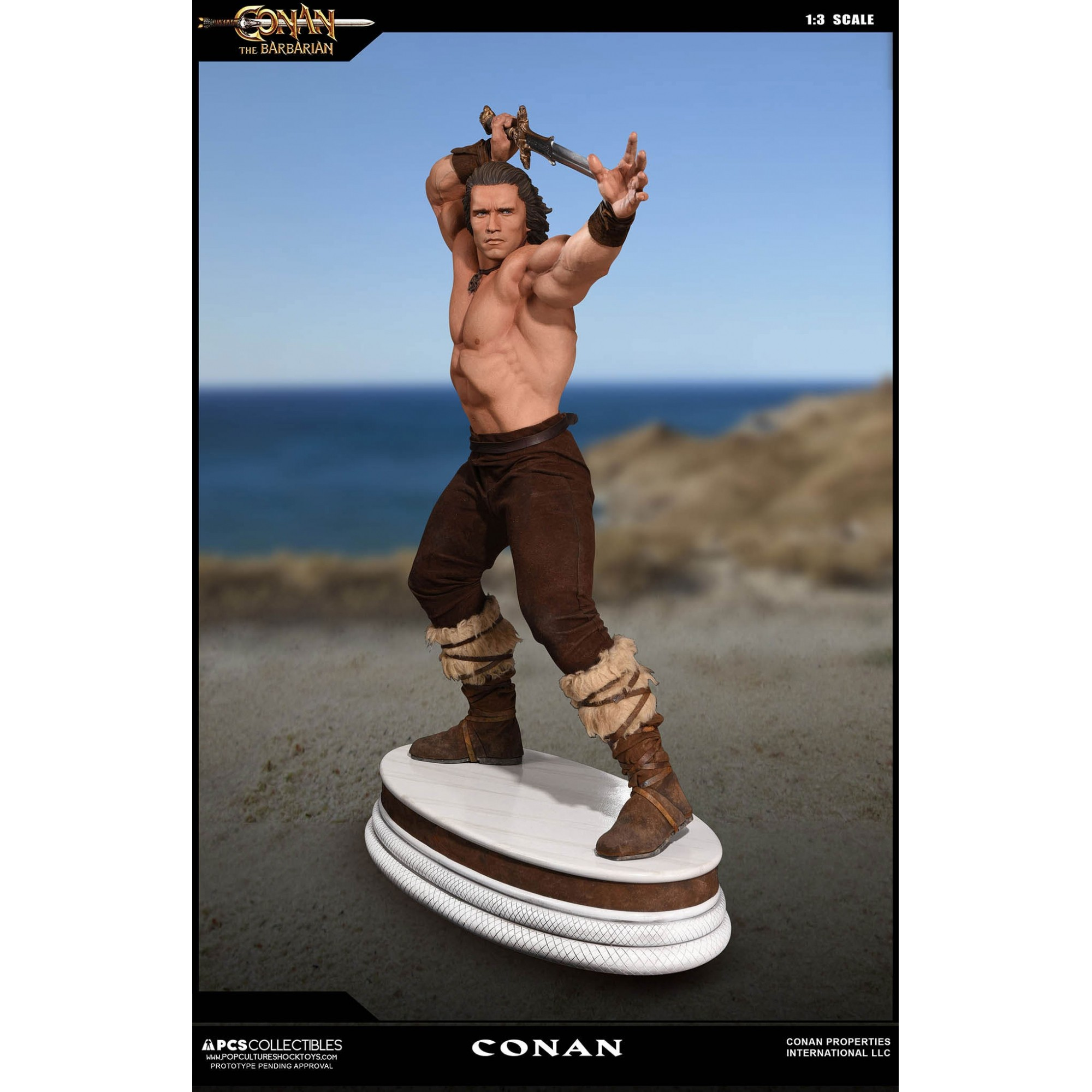 Pop Culture Shock  Conan The Barbarian 1:3 Classic Version Statue  - Movie Freaks Collectibles