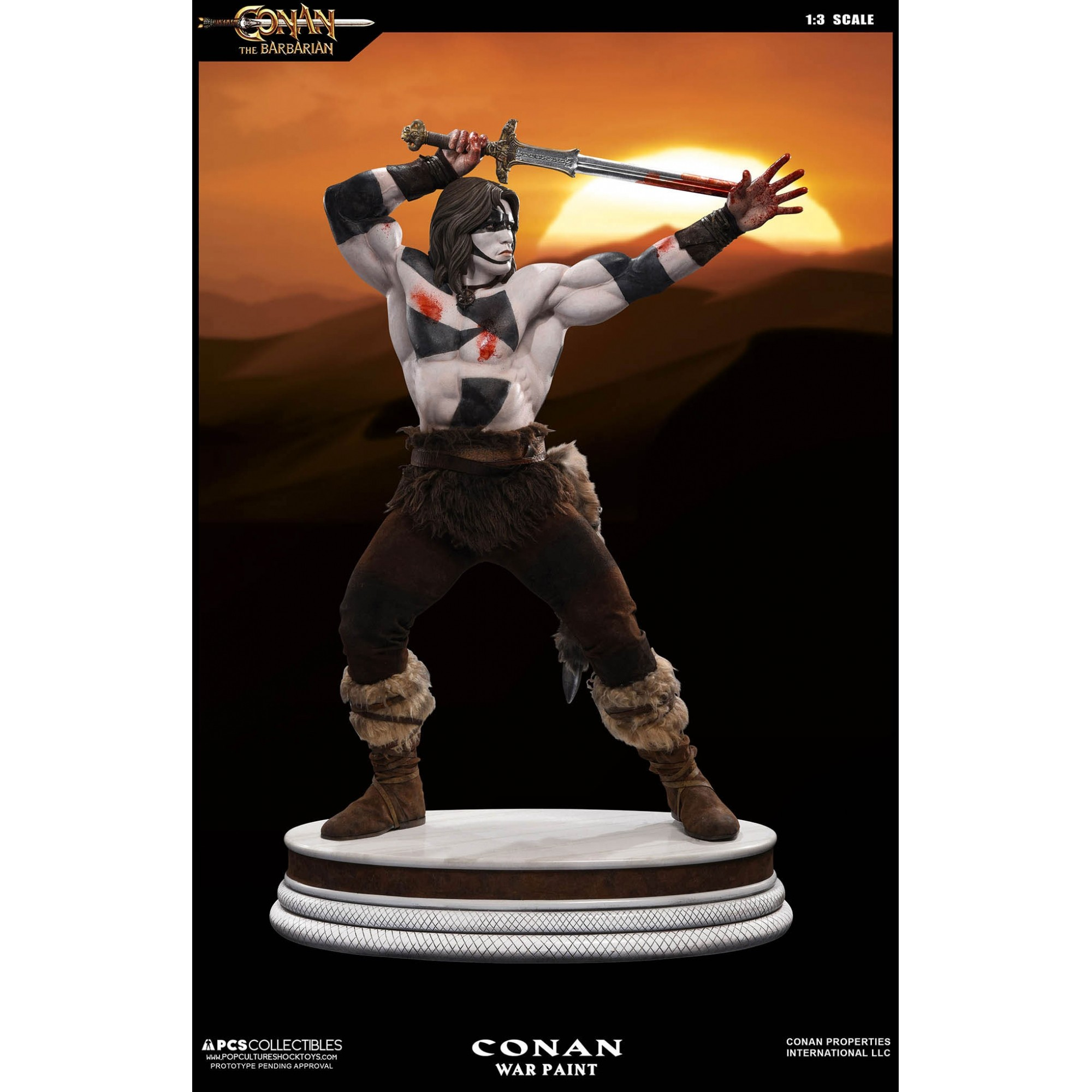 Pop Culture Shock  Conan The Barbarian 1:3 – War Paint Ex Statue  - Movie Freaks Collectibles
