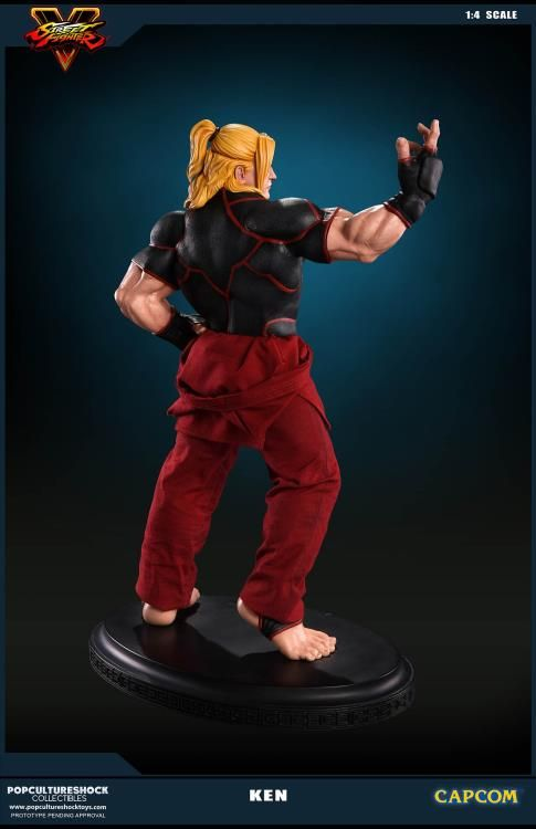 Pop Culture Shock Street Fighter V: Ken Masters 1:4 Statue  - Movie Freaks Collectibles