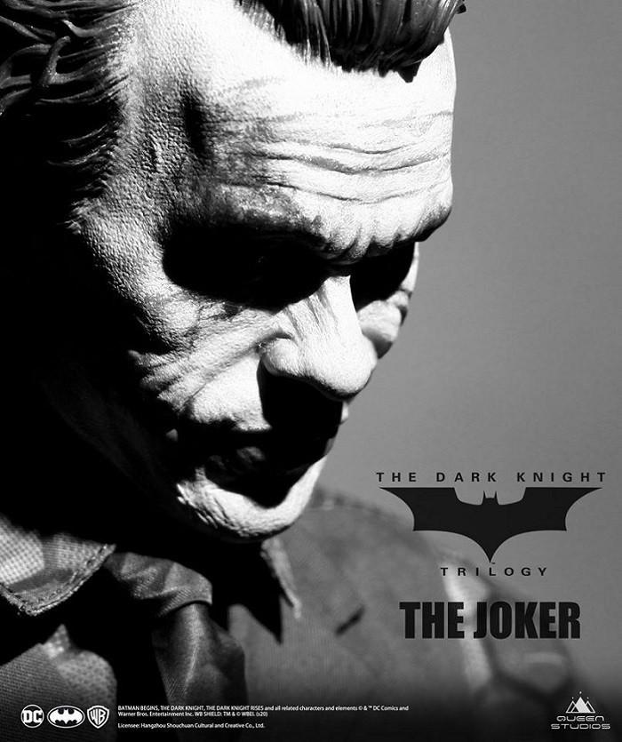 QUEEN STUDIOS TDK JOKER HEATH LEDGER 1/3 SCALE STATUE - REGULAR VERSION ( SCULPTED HAIR )  - Movie Freaks Collectibles