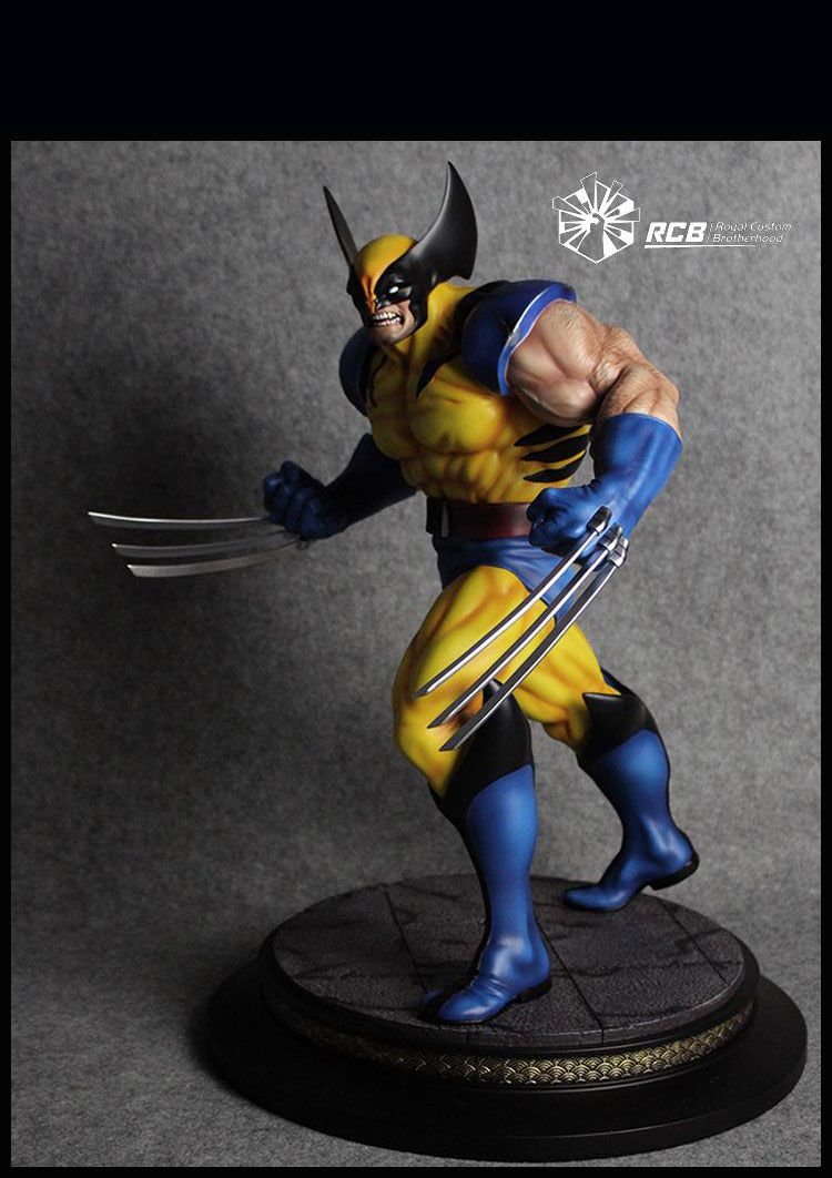 RCB Erick Sosa Marvel Vs Capcom Wolverine Yellow Variant Custom Statue  - Movie Freaks Collectibles