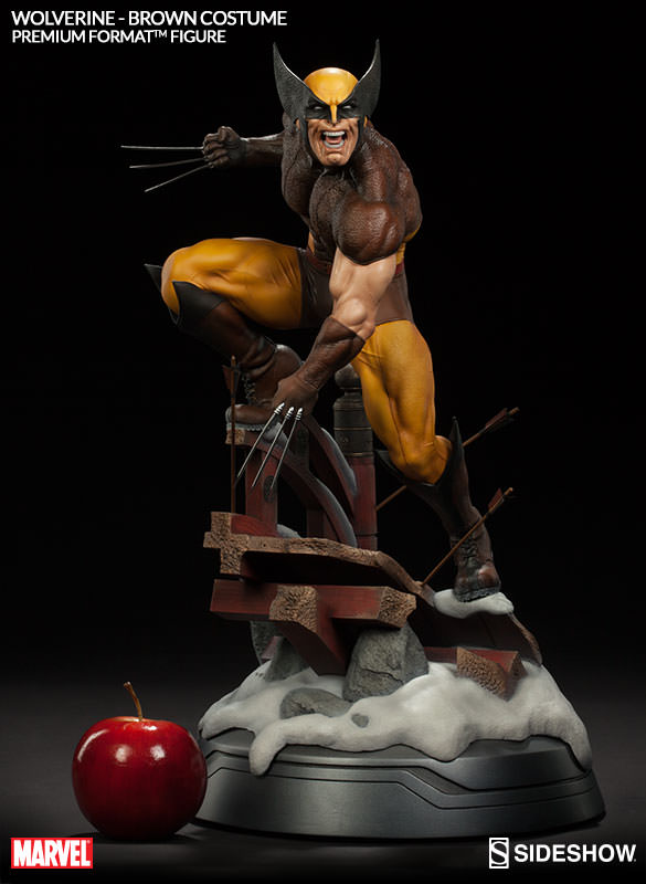 Sideshow Brown Wolverine Premium Format EXclusive  - Movie Freaks Collectibles