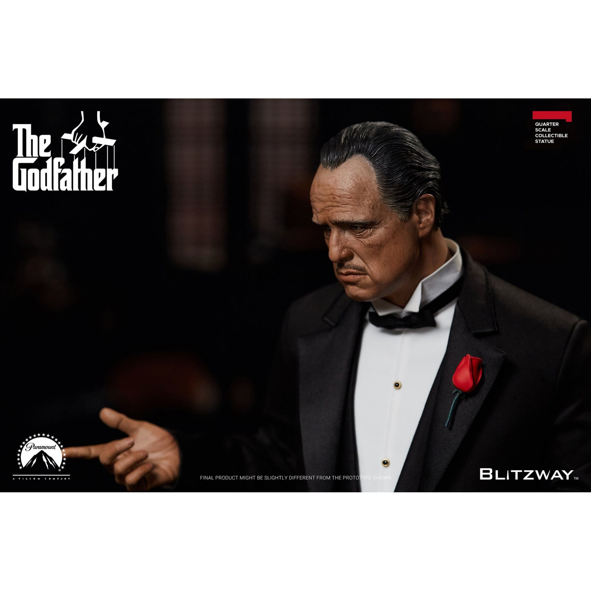 The Godfather , 1972 Vito Corleone 1/4 Superb Scale Limited Edition Statue  - Movie Freaks Collectibles