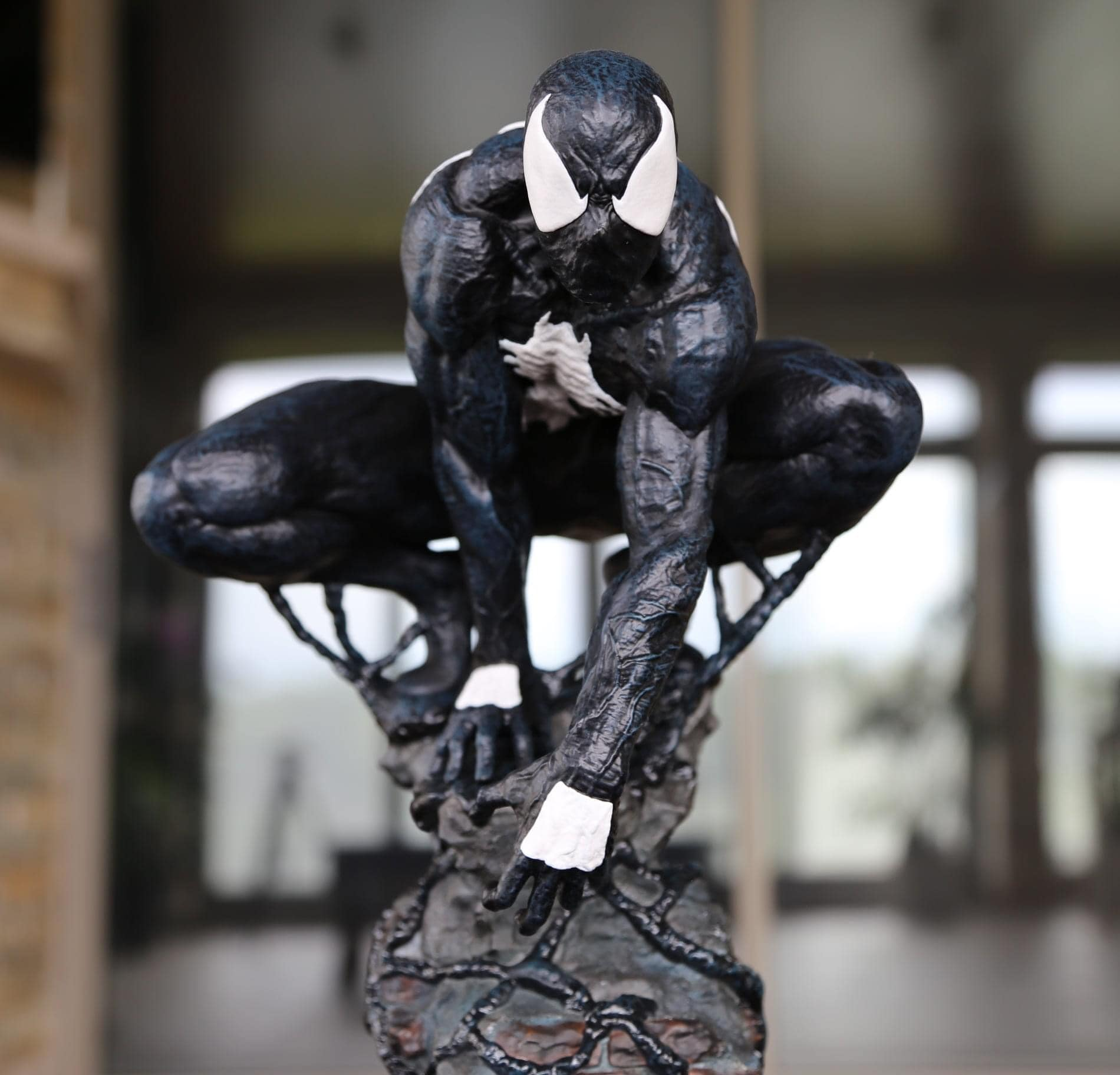 Vizion Exo Symbiote Spider-man / Homem Aranha Black 1/4 statue  - Movie Freaks Collectibles