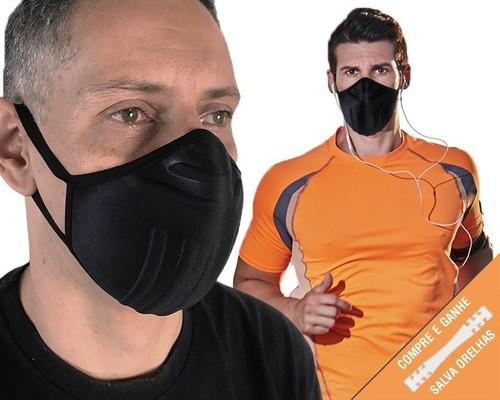 10 Máscaras Proteção Lavável Anatômica P/ Atividade Física