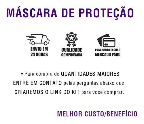 Máscara De Proteção Em Tecido Lavável Anatômica