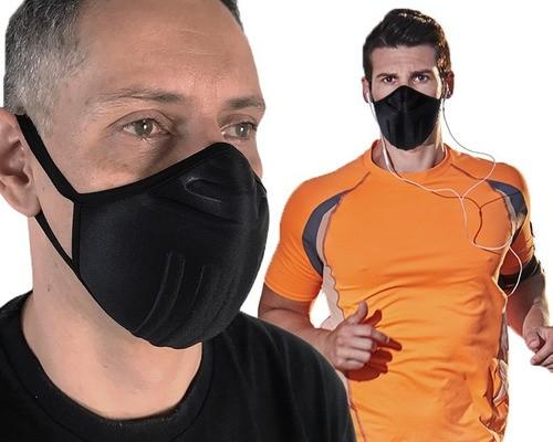 5 X Máscara De Proteção P/ Esportes + Adaptador Salva Orelha